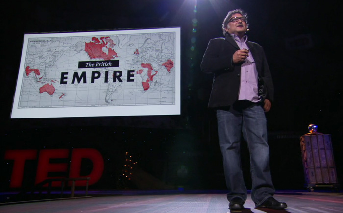 Sugata Mitra TED prize, edtech and empire