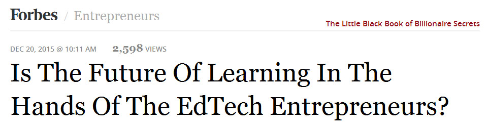 EdTech and the entrepreneur